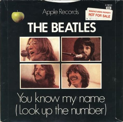 How Do You Look Up Records 45cat The Beatles Let It Be You My Name Look