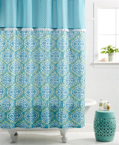 turquoise shower curtain dena home tangier shower curtain everything turquoise