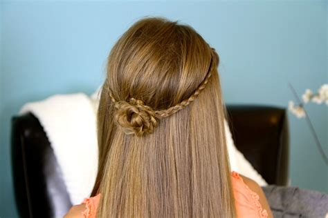 cute hairstyles for 6th grade dance hairstyley braided flower tieback hairstyles for long hair cute