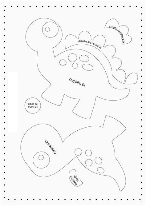 Moldes Marca paginas Dinossauros - Como Fazer