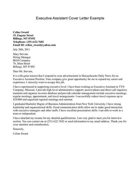 cover letter for administrative coordinator executive administrative assistant cover letter sle