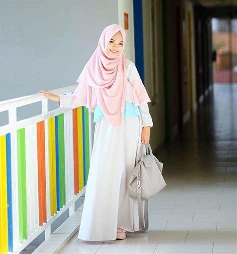 Baju Muslim Gamis Trend trend model busana muslim 2017 siap percantik penilan