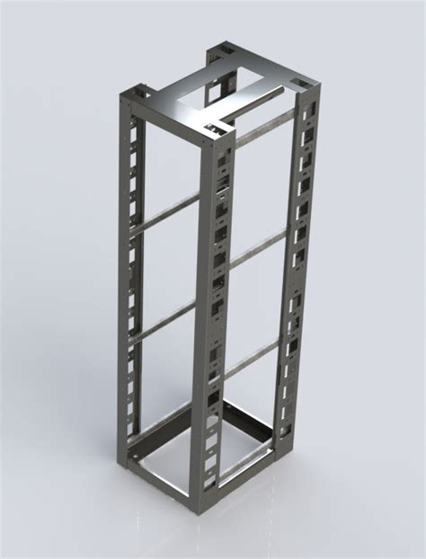Four Post Rack by 4 Post Relay Rack Seismic Electron Metal
