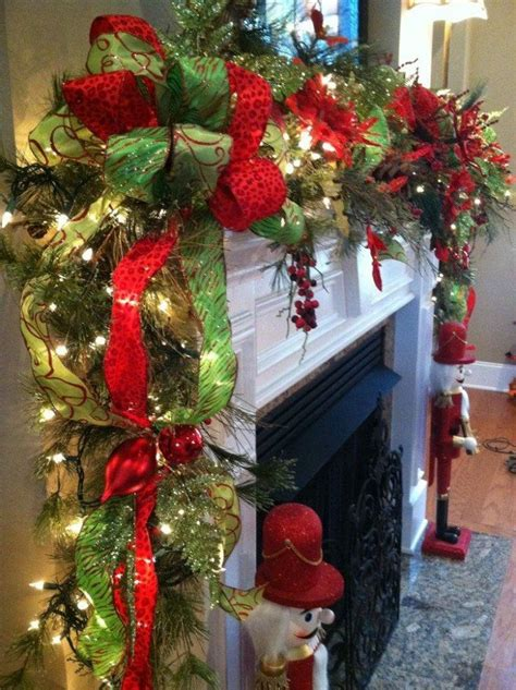 garlands with lights for fireplace beautiful garland for fireplace mantle pictures