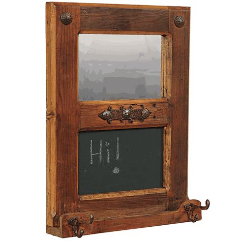rustic mirrors home decor rustic wood mirror chalkboard