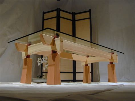 craftsman timber frame furniture asian coffee tables