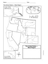 us western region map blank map of western united states printable 1st 8th grade