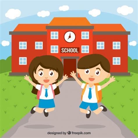 imagenes animadas escuela ni 241 os felices en la escuela descargar vectores gratis