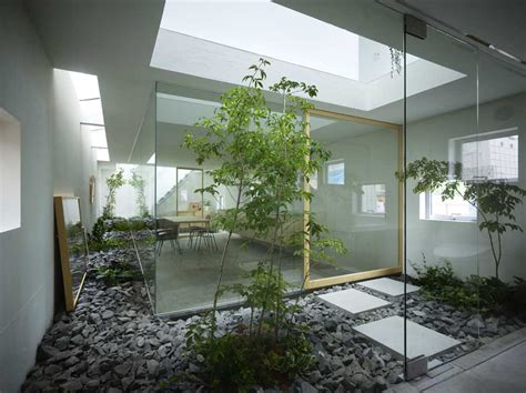 indoor garden design house in moriyama nagoya residence japan e architect