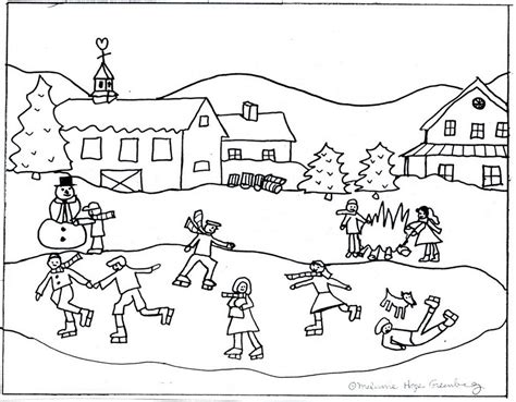 free coloring pages winter scenes winter scenes coloring pages page 608744 171 coloring pages