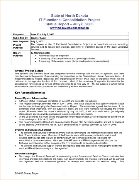 template for monthly report 7 monthly report template authorizationletters org