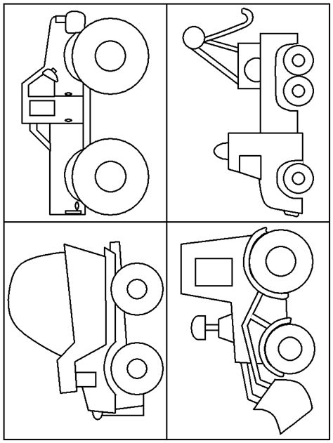 print coloring page and book trucks transportation