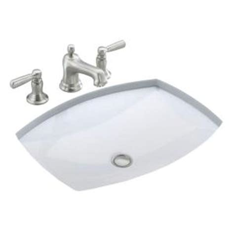 home depot kohler bathroom sink kohler kelston under mounted bathroom sink in white