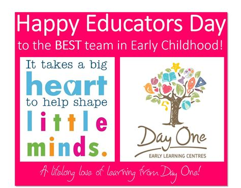 happy early s day happy educators day day one early learning centres