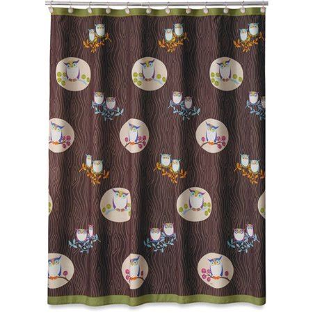owl shower curtain awesome owls shower curtain walmart