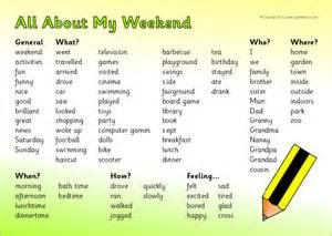 weekend news writing word mat sb9375 sparklebox