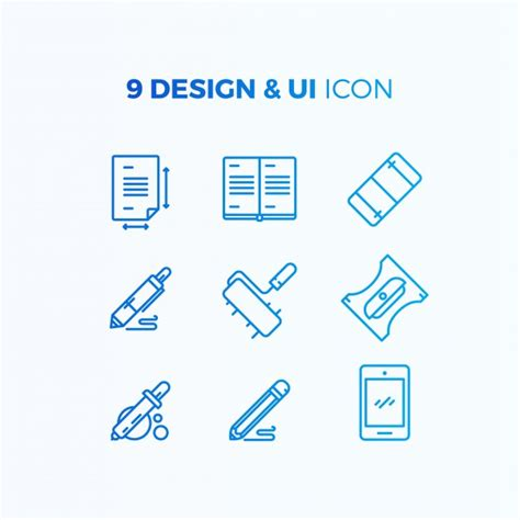 design icon free ui and design icon collection vector free download