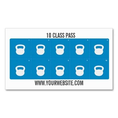 Pass Punch Card Template by Fitness Class Business Card 10 Class Pass Card