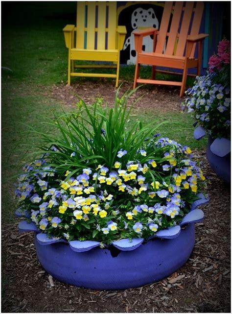 tire planter garden pinterest