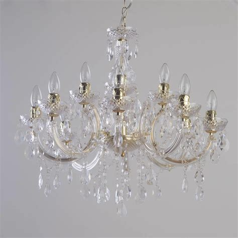 Decorative Chandelier Therese 12 Light Dual Mount Chandelier Gold From Litecraft