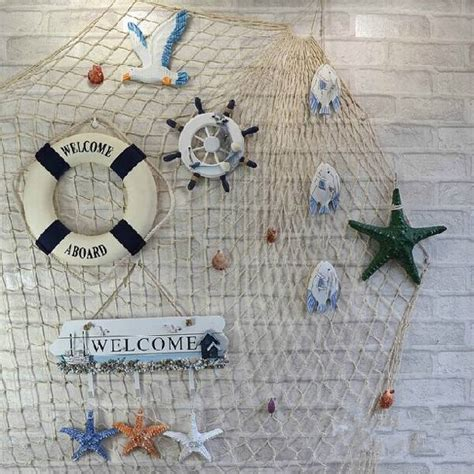 decorative fish net wall decoration new style wall decor mediterranean style decorative fish