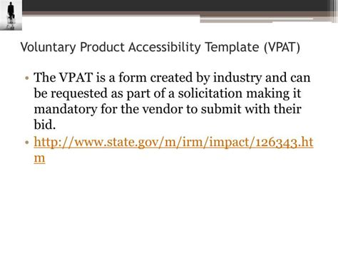 voluntary product accessibility template ppt section 508 and wcag powerpoint presentation id
