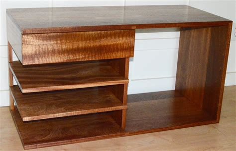 Floating Drawer Nightstand Custom Made Solid Sapele Nightstand With Figured Floating Drawer And Shelves