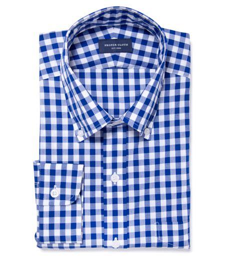 Gingham Shirt royal blue large gingham s dress shirt by proper cloth