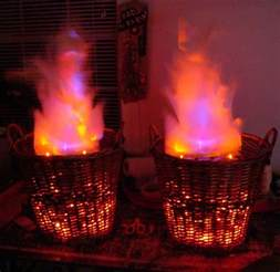 Cheap And Easy Christmas Centerpieces - how to fake fire baskets make diy projects how tos electronics crafts and ideas for makers