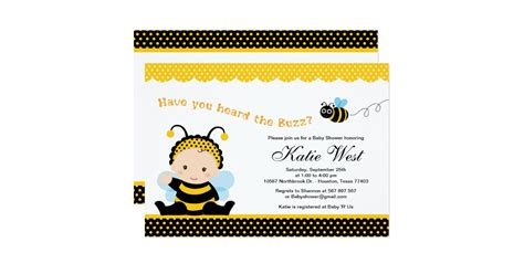 T Shirt Baby Shower Invitations by Bumble Bee Baby Shower Invitation Zazzle