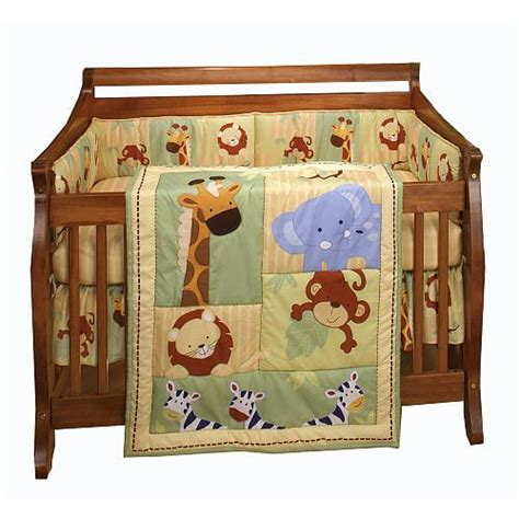 Nojo Safari Kids 4 Piece Crib Bedding Set Crown Craft Corner Crib Bedding