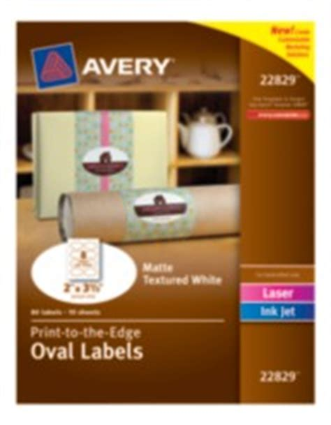 Marketing Solutions Avery 174 Print To The Edge Oval Labels 22829 Matte Textured White 2 Quot X 3 1 3 Avery Oval Labels 22829 Template