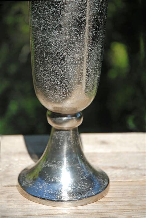Aluminum Vases by Aluminum Trumpet Vase Silver 23in