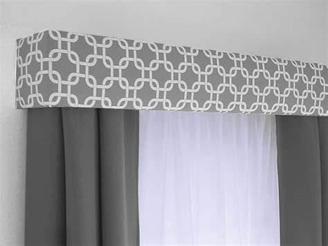 Window Box Curtains Custom Cornice Board Valance Box Window Treatment Custom