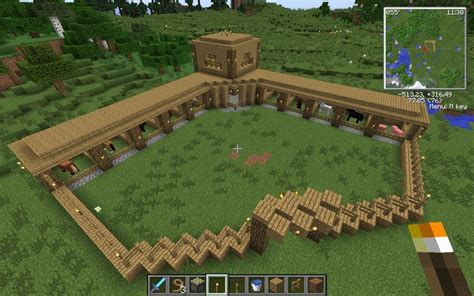 cool cool minecraft horse stable creative mode