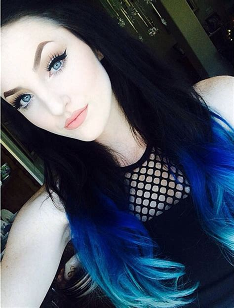 what hair color is in this summer 2015 how to dye your ideal blue ombre hair color for 2015