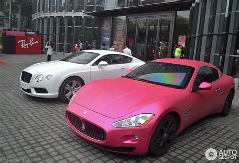 How Much Is A Maserati Granturismo by Pink Maserati Granturismo Shows In Beijing