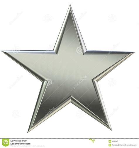 silver stars 3d silver star front view royalty free stock photography