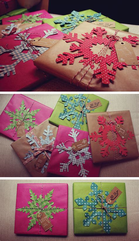 snowflake gift wrap 1000 images about giftwrapping diy on gift