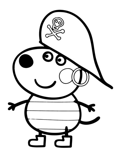 free pepa para colorear coloring pages free coloring pages of peppa pig pedro