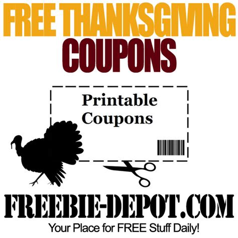 printable thanksgiving grocery coupons free thanksgiving coupons printable freebie depot