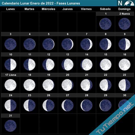 calendario perpetuo fases lunares calendario lunar enero de 2022 fases lunares