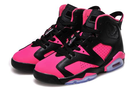 new jordans sneakers new air 6 gs black pink shoes for sale