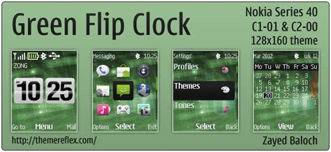 themes clock c1 nokai series 40 themes themereflex