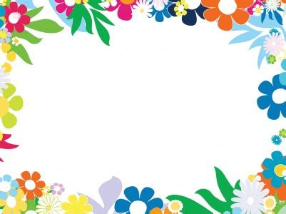cool white frame added colorful pictures as custom free floral colorful frames backgrounds for powerpoint