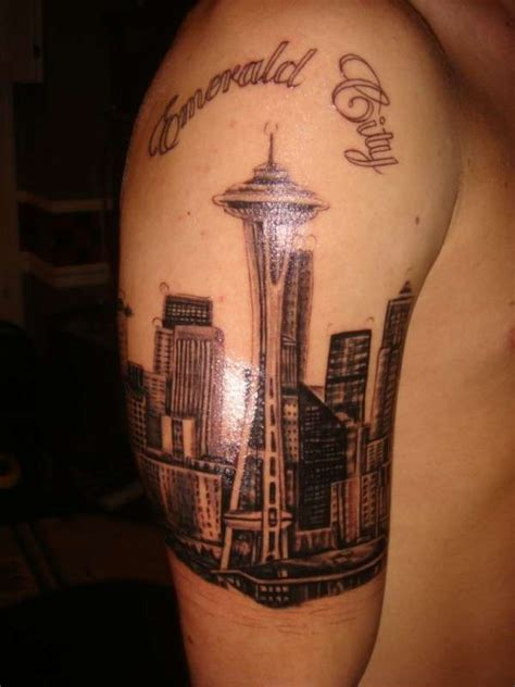 seattle skyline tattoo seattle skyline the pictures to pin on tattooskid