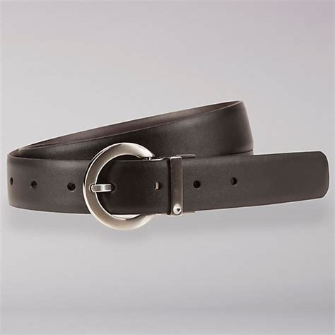 reversible black brown leather belt