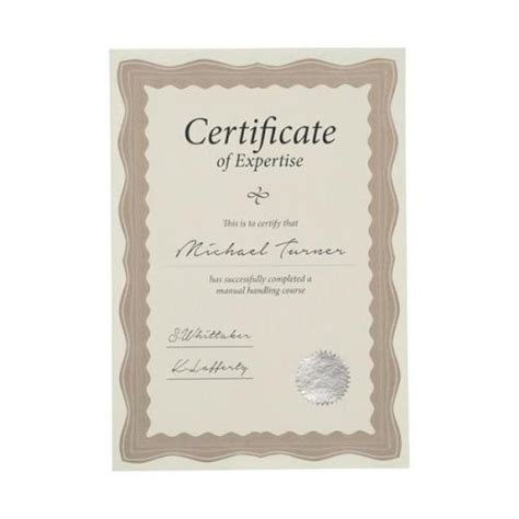 pattern paper next day delivery certificate papers a4 90g m2 with foil seals bronze