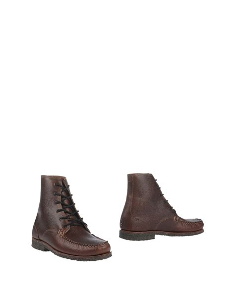 quoddy shoes quoddy ankle boots in brown for lyst