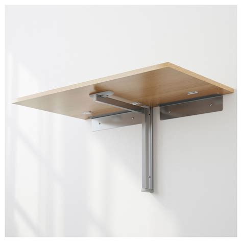 Wall Mounted Tables by Bjursta Wall Mounted Drop Leaf Table Oak Veneer 90x50 Cm